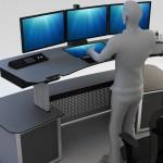 Sit & Stand Workstation Consoles – Ergonomía de Confort